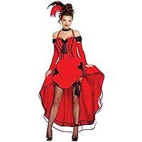 Rubies Saloon Girl Kleid Fasching Kostüm Gotik weinrot lila Halloween Damen edel