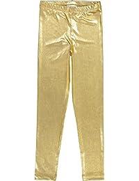 Masala Kids Girls' Little Metallic Leggings Gold