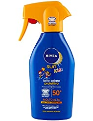 Nivea Sun Kids Latte Solare Protettivo per Bambini, FP 50+, Protezione Molto Alta, 300 ml