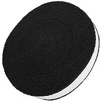 VGEBY1 La Cinta de la Raqueta Envuelve, el sobregrip de la Raqueta del algodón Antideslizante para el Accesorio de la Cinta del Sudor de los Deportes del Palo del Tenis del bádminton(Negro)