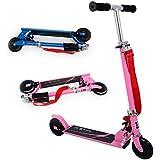 Patinete plegable con dos ruedas, Fascol Patinete Monopatín Scooter para ciudad niños 3 - 13 años, Rosa