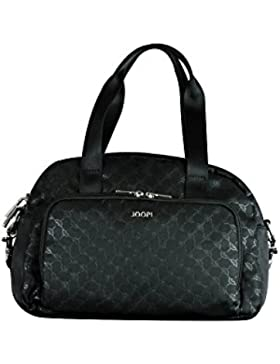 JOOP! Nylon Cornflower S Rina HandBag, Farbe schwarz I Henkeltasche mit Reißverschluss I kleine Nylon-Damen-Handtasche