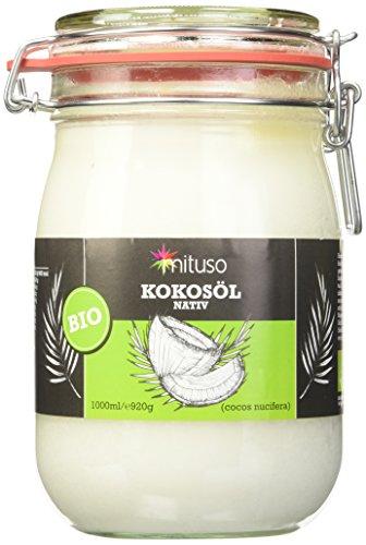 Mituso bio olio di cocco, nativ, 1er pack (1x 1000ml) in vetro
