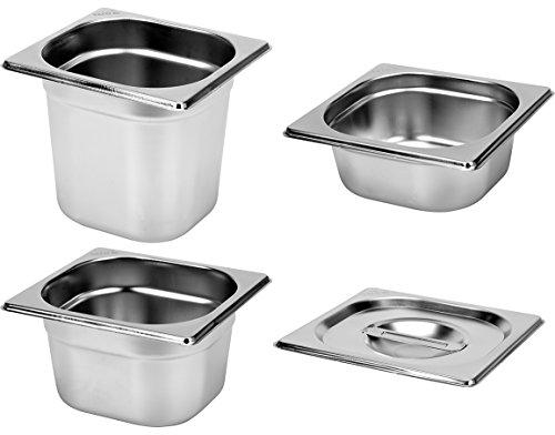 Yato Profi Edelstahl GN Gastronormbehälter 1/6 Größen Auswahl 20-200mm auch Deckel Gastro Norm Behälter