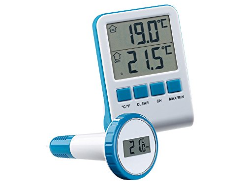 Poolthermometer Funk-Poolthermometer Teichthermometer Wasserthermometer Digital inkl. Batterien