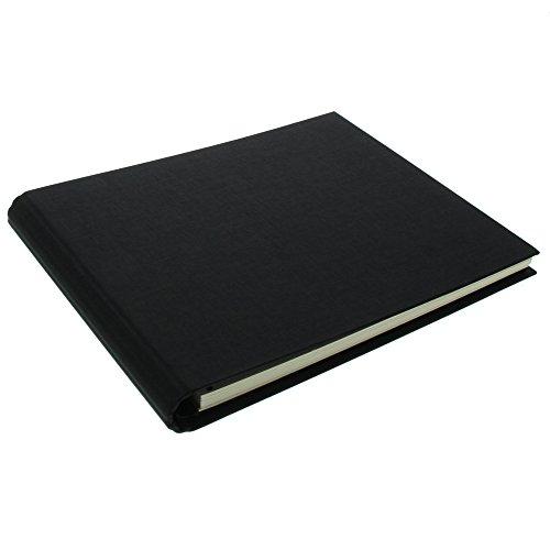 Goldbuch Foto-Gästebuch mit verdeckter Spirale, Linum, 29 x 23 cm, 50 weiße Blankoseiten, Leinen,...