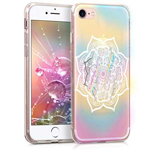 kwmobile Apple iPhone 7/8 Hülle - Handyhülle für Apple iPhone 7/8 - Handy Case in Mehrfarbig Weiß Transparent