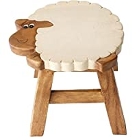 Something Different Wholesale Sheep Stool (4/12), Wood, Multicolour, 19x28x26 cm