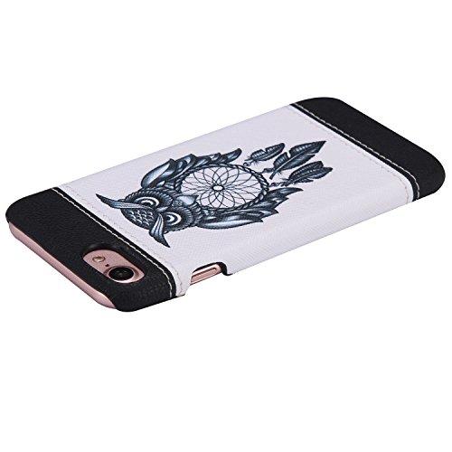 iPhone 7 Hülle,iPhone 7 Case,Felfy Stoßfest Hülle PC Plastic Harte Rüstung Anti-Shock Case Ultra Dünn Farbmuster Schutz Bumper Tasche Schale Etui Hülle Hard Case für Apple iPhone 7 4.7 Zoll (Schmetter Eule