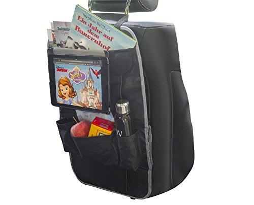 Kick-Mats, borsa da viaggio con design elegante | MY CARCADDY TO GO | organizer universale, impermeabile facile da montare e da pulire | per autovetture, camper, furgone, SUV | NERO – GRIGIO
