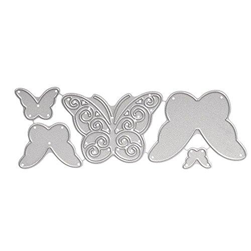 Rayher 59229000Set Fustelle Farfalle Graziose da 5 Pezzi in Misure Diverse, 1,3-4,5cm Fai da Te Stencil Decorazioni Acciaio Lunga Durata - 2