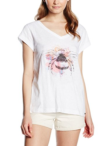 Animal Bright Nature/001, T-Shirt Femme, Taille Unique Blanc - Blanc