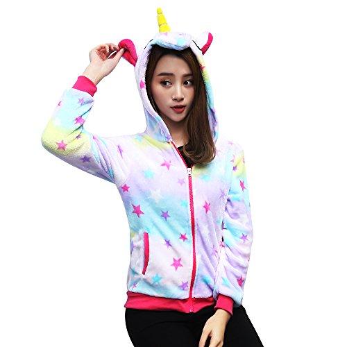 en Einhorn Hoodie Pagasus Kapuzenpullover Pullover Jacken Neuheit Tier Kostüm (S, Star) (Star Fox Kostüme)