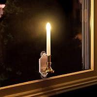 Luz solar para vela, 2 unidades, LED, impermeable, electrónica, con ventosa, para interiores y exteriores, jardín, paisaje, color As Picture Show, tamaño 2 unidades