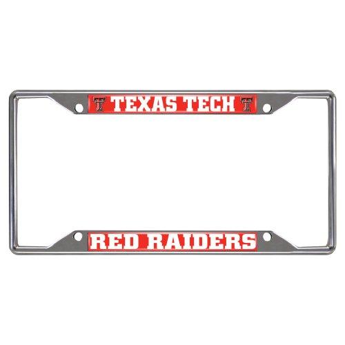 Texas License Plate Frames (FANMATS NCAA Texas Tech University Red Raiders Chrome License Plate Frame)