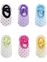 Bébé 6 Paires Chaussettes Anti-Glissement pour 8 – 36 mois Les Nourrissons et les Tout-Petits