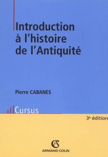 Livres Introduction à l'histoire de l'Antiquité pdf