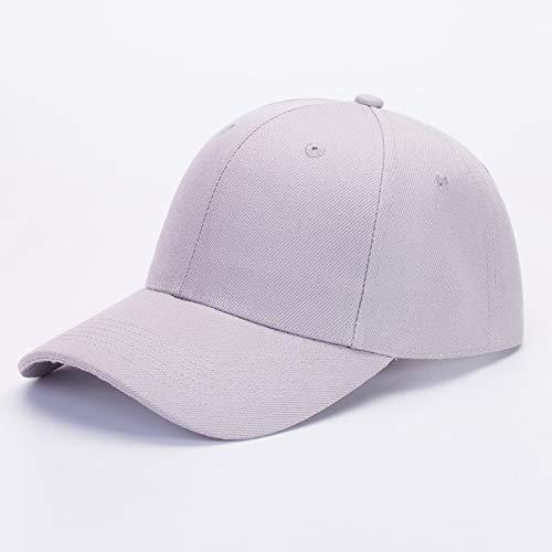 sdssup Bestickter Hut mit Flacher Krempe Koreanische Version der Kappe Baseballmütze Fischerhut Hip-Hop Hip-Hop-Hut grau S (54-56cm) Heatgear Hood