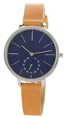 skagen-skw2355-reloj-con-correa-de-cuero-cuarzo-para-mujer-dial-azul-banda-marron