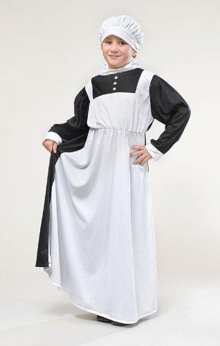 Kinder Florence Nightingale Maskenkostüm Krankenschwester-kleidung 146cm 9-10 (Florence Fancy Nightingale Dress Kostüm)