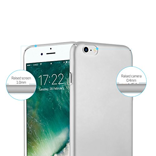 Cadorabo - Hard Cover Slim Case passend für >              Apple iPhone 6 / 6S              < in Matt Metallic-Optik - Schutz-hülle Hard Case Schale Schutzhülle Bumper in METALL-ROSÉ-GOLD METALL-SILBER