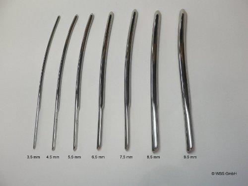Dilatator, Hegar, Bougie aus Edelstahl, 3,5 - 9,5 mm - 1 Stück in der gewählten Größe