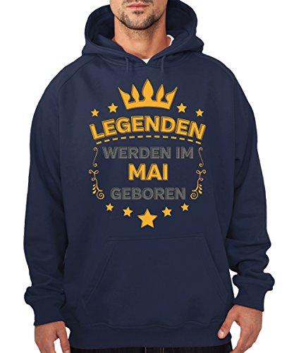 -- Legenden werden im Mai geboren -- Boys Kapuzenpullover Navy