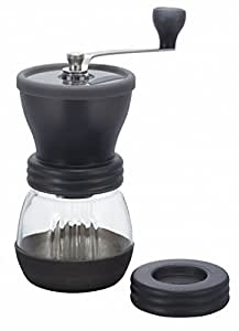 Hario Medium Glass Hand Coffee Grinder with Ceramic Burrs, Clear
