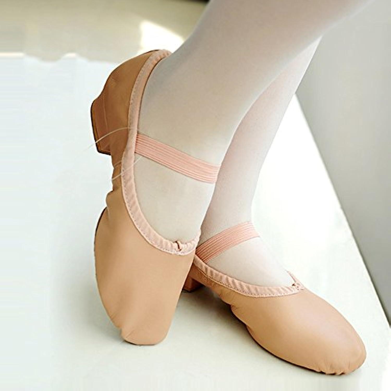PENGFEI Ballet Zapatos De Baile Profesor Suave De Tacón Bajo De Las Mujeres 2 Colores (Color : Flesh Color, Tamaño...