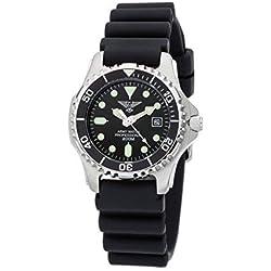 Eichmüller EP880 Army Watch Sport Montre de plongée avec bracelet en PU 20 ATM (étanche jusqu'à 200 m)