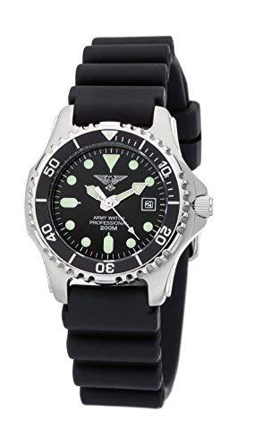 e561ec9c73b6 Army Watch Sport by Eichmüller - Reloj de Buceo con correa de PU 20 atm (