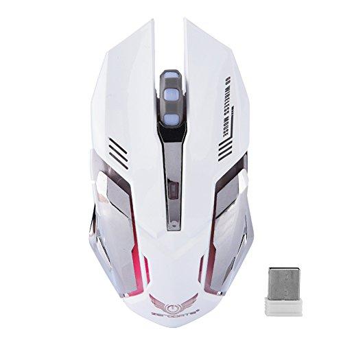 VBESTLIFE ZERODATE Mouse da Gioco, Mouse Wireless 2 4G Wireless Ergonomics  Ricaricabile 2400 DPI con LED Color Definition per PC Laptop