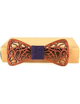Meijunter WT-45b Lazo de madera de los hombres del lazo de la manera de los hombres Los regalos de los hombres...