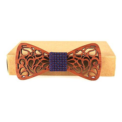 Meijunter WT-45b Lazo de madera de los hombres del lazo de la manera de los hombres Los regalos de los hombres de Navidad del bowtie de madera