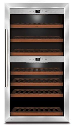 CASO WineComfort 66 Design Weinkühlschrank für bis zu 66 Flaschen (bis zu 310 mm Höhe), zwei...