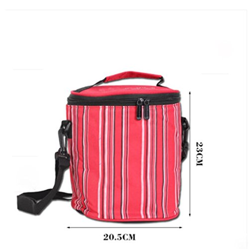 MOXIN bag lunch box sacchetto isolato borsa secchiello per pic-nic viaggio , big: red medium: red