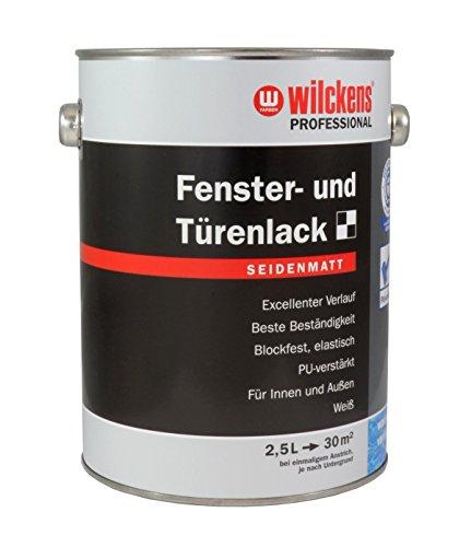 fenster und tuerenlack Wilckens Professional Fenster- & Türenlack 2,5 L. Weiß Seidenmatt, PU-verstärkt