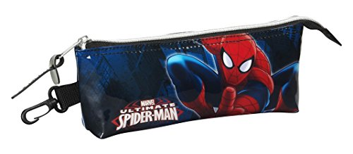 Spiderman Estuche portatodo Triangular (SAFTA 811543323), Color Azul