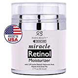 Radha Beauty Retinol Face Moisturiser For Women and Men with 2.5 Percent Retinol, Hyaluronic Acid and Jojoba Oil. Best Night and Day Face Cream Anti Aging, Anti Wrinkle. 50 Milliliter