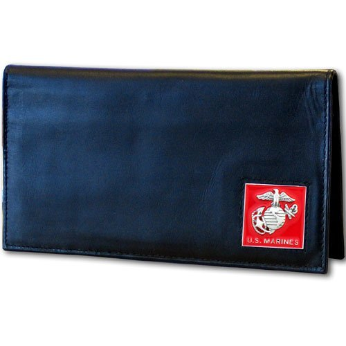 us-marines-executive-leather-checkbook-cover-by-pacific-sports-section