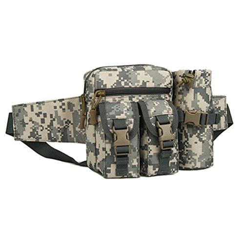 Buwico Multifunktions-Outdoor Tactical Wasserkocher Taille Packungen Abnehmbare Reisen Sundry Paket Tasche für Laufen, Motorrad, Camping, Wandern, Trekking - Camouflage B