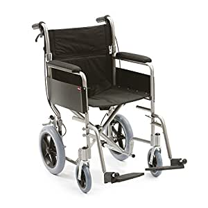 "Drive DeVilbiss Healthcare Enigma Aluminim Transit Folding Wheelchair with 18"" Seat Width"