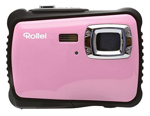 Rollei Sportsline 64 - Flexible Digitalkamera mit 5 MP CMOS Sensor, HD Videofunktion 720p (1280 x 720 Pixel) - Wasserdicht bis 3 Meter - Pink
