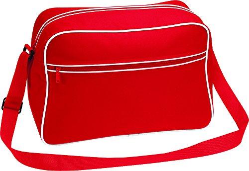 Bagbase-Borsa, tasca frontale con Zip a contrasto elegante stile Messenger-Borsa a tracolla Graphite Grey / Black