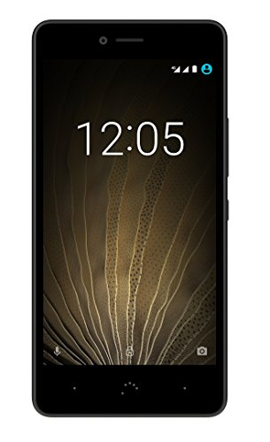 BQ Aquaris U Lite - Smartphone de 5'' (WiFi, Bluetooth 4.2, Qualcomm Snapdragon 425, Quad Core, 16 GB de Memoria Interna, 2 GB de RAM, cámara de 8 MP, Android 6.0.1 Marshmallow) Negro y Gris Grafito
