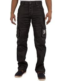 CARGO COMBAT TRAVAIL Jeans hommes avec ENZO de marque imprimé modèle ez08blk sizes-28-48