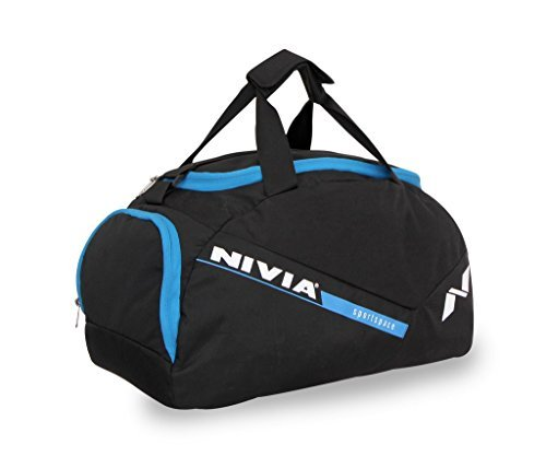 Nivia Sports Space 5412BB Gym Bag (Black/Blue)