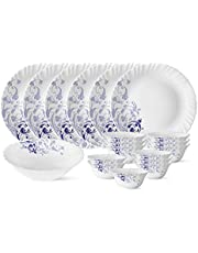 Larah by Borosil Blue Eve Silk Series Opalware Dinner Set