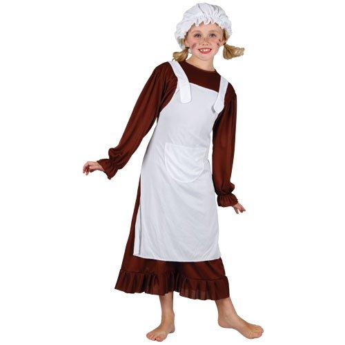 Von Kostüm Waisen Annie - Kleine Waise Annie Armes Mädchen Verkleidung Fasching Halloween Party Kostüm M