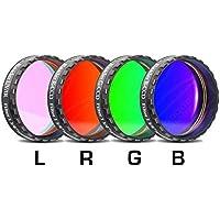 """Baader Planetarium 2458472 LRGB – Juego de filtros para CCD (bloquea infrarrojos y rayos ultravioleta, filtro L, 1,25"""")"""